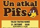 """Izrāde bērniem """"Un atkal Pifs"""" 21.oktobrī plkst.18.00"""