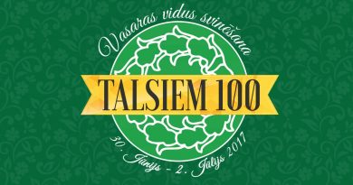"""Talsi  aicina uz Pilsētas svētku jubilejas  svinību pasākumu """"Talsiem 100""""!"""