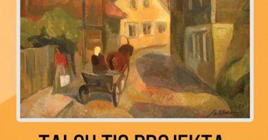 """no 30.jūnija Talsu tautas nama 1. stāva foajē Talsu TIC projekta """"Māksla uzzied Talsos"""" Talsu ainavu izstāde"""