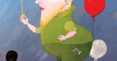 """no 14.oktobra  Jāņa Roberta Jansona gleznu izstāde """"Tas ir nopietni""""."""