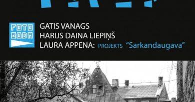 """5.maijā plkst. 15:00 Gata Vanaga, Harija Dainas Liepiņa un Lauras Appenas fotoprojekta """"Sarkandaugava"""" izstādes atklāšana Talsu tautas nama 1. un 2. stāva foajē"""""""