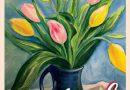"""No 9.aprīļa Ingas Mertenas gleznu izstāde """"Ziedi"""" Radošās sētas 2.stāvā"""