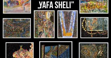 """No 1. jūnija Talsu tautas nama Radošās sētas 2. stāvā  notiks Harija Tālberga gleznu izstāde """"YAFA SHELI"""""""