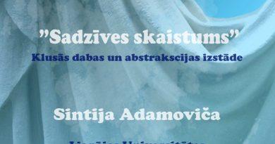 """No 20. maija Radošās sētas 1. stāvā Sintijas Adamovičas klusās dabas un abstrakciju izstāde """"Sadzīves skaistums"""""""