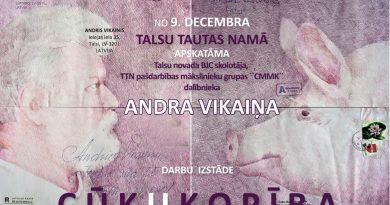 """No 9. decembra 2. stāva foajē skatāma Andra Vikaiņa darbu izstāde """"CŪK KOPĪBA"""". Noslēdzošā izstāde Cūkas gadā!"""